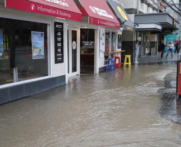 Camp St has been affected by flooding. Photo: Hugh Collins