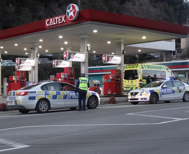 The incident happened at the petrol station on Gorge Rd. Photo: Joshua Walton