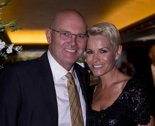 Martin Crowe and Lorraine Downes at the Cricket Awards in 2015. Crowe died of cancer the...
