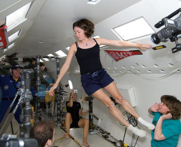 Prof Karen Willcox undergoes a weightlessness test in 2013 during her final, almost successful,...