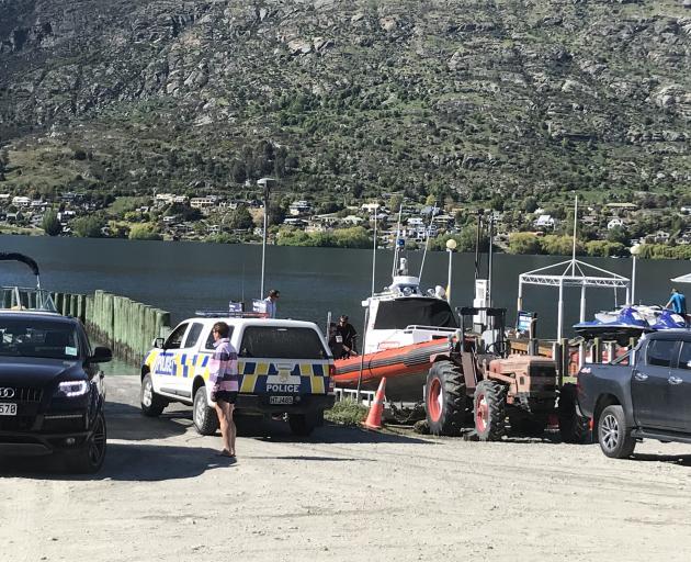Police at the marina this morning. Photo: Daisy Hudson