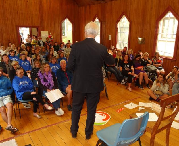 Wakatipu teachers met at St Peter's Church Hall in Queenstown. Photo: Guy Williams