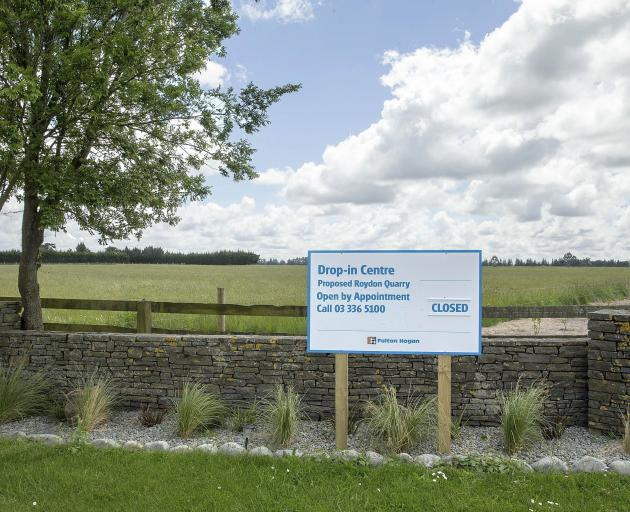 The decision on whether Fulton Hogan can open its proposed quarry in Templeton could be made next...