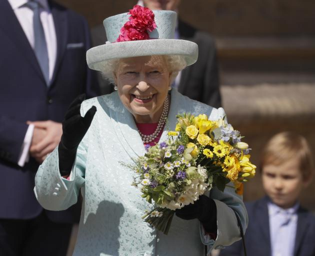 The Queen attended an Easter service at St George's Chapel in Windsor Castle. Photo: AP