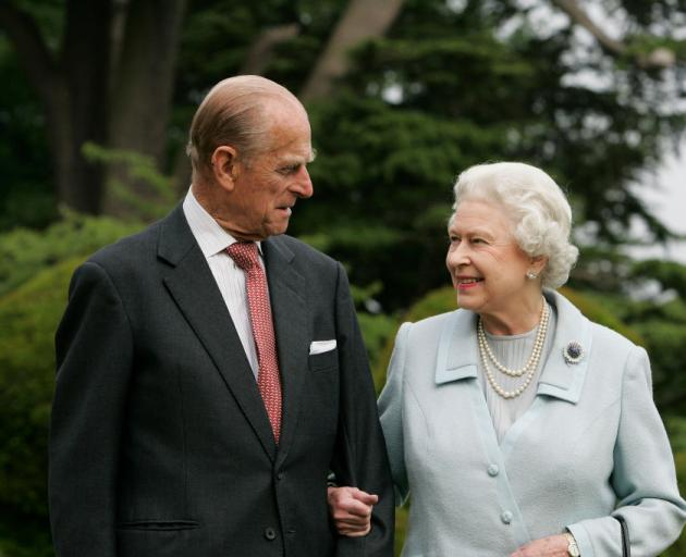 """""""He has, quite simply, been my strength and stay all these years,"""" the Queen said of Prince..."""