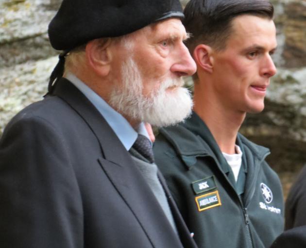 Compulsory Military Training veteran Charlie Sell, (left) and St John's member Jack Gilchrist,...