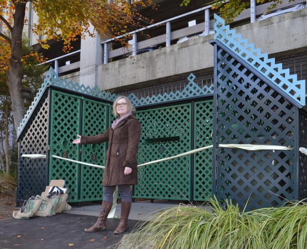 Dunedin City Council solid waste manager Catherine Irvine at the Moray Pl site. Photo: Gerard O...