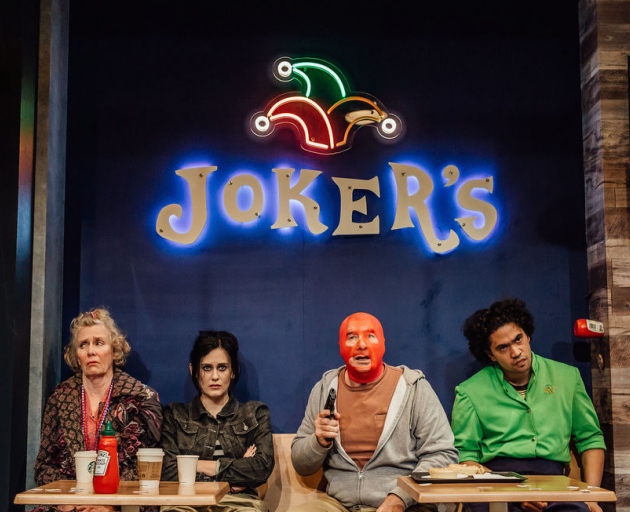From left: Jennifer Ludlam, Jess Sayer, Simon Ferry and Richard Te Are in Mr Red Light. Photos:...