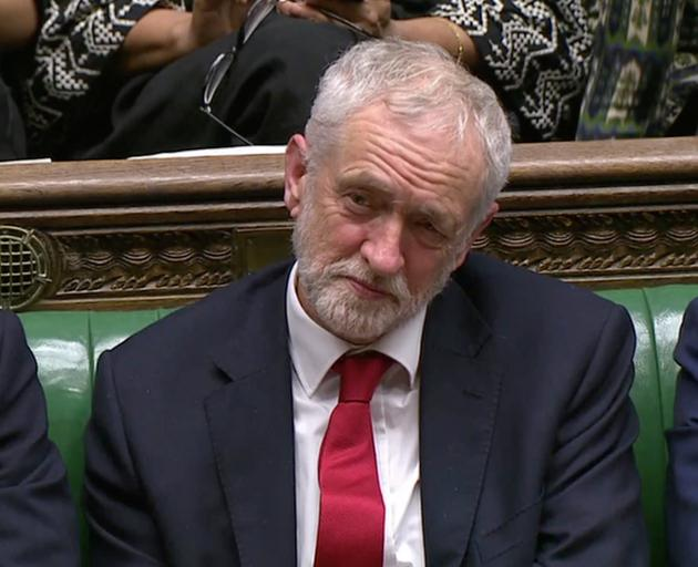 Jeremy Corbyn, Leader of the Labour Party, listens during a confidence vote debate after Parliament rejected Prime Minister Theresa May's Brexit deal. Photo: Reuters