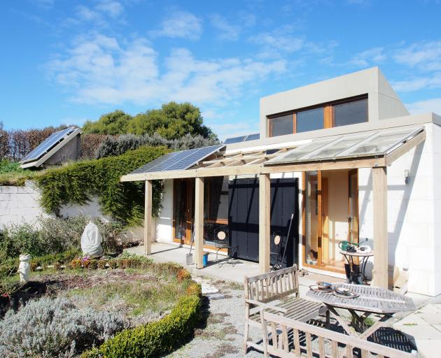 Rhys Taylor's passive-solar, high-thermal-mass home in Geraldine. PHOTOS: SUPPLIED