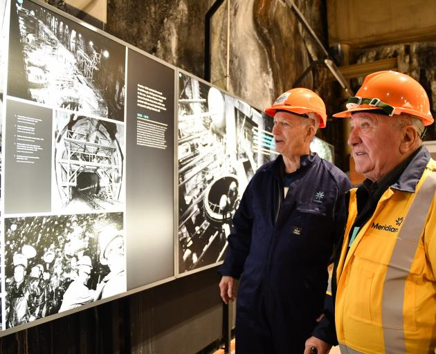 Selwyn Steedman (left) and Jure Mercap worked at the Manapouri hydro station during its...