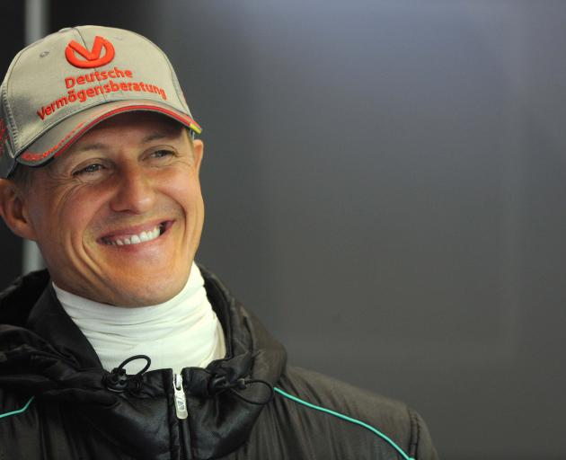 Michael Schumacher in 2012, the year he retired from Formula One. Photo: Action Images via Reuters