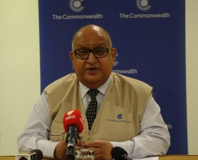The chair of the Commonwealth Observer Group, Sir Anand Satyanand. Photo: RNZ Pacific