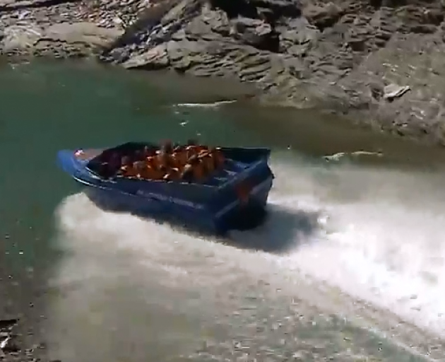 The boat was operated by Skippers Canyon Jet. Image: YouTube/file