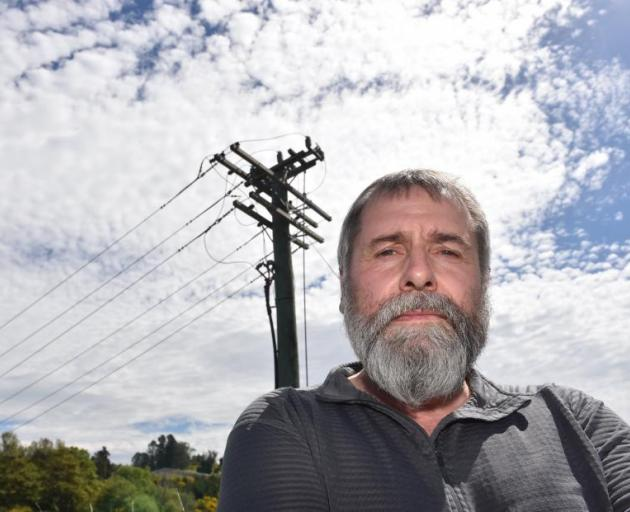 Former Delta employee Richard Healey went public about deteriorated power poles in 2016. Photo:...