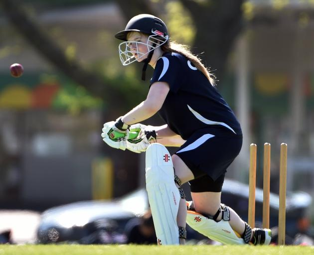 Rebecca Dean, also of Otago Girls', moves in to a shot