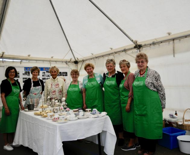 The 150th Jubilee organising committee, chairwoman Jan Moore, second from left, and committee member, Jan Moffatt, third from left, with members of the Loburn Country Women's Institute, Chris Walsh, far left, Trish Milne, fourth from left, Jeanette Enrigh