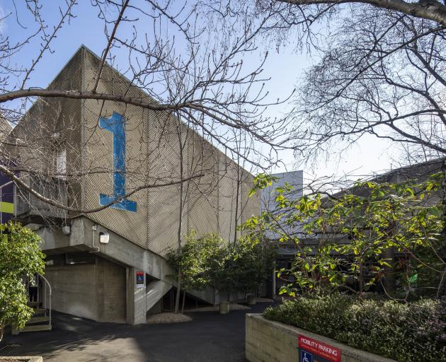 The University of Otago Archway Lecture Theatres, designed by McCoy and Wixon in 1974. PHOTO:...