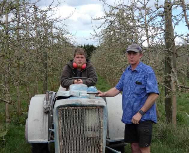 Russell Benington (left) works for Mark Darling, who adds an organic element to his business,...