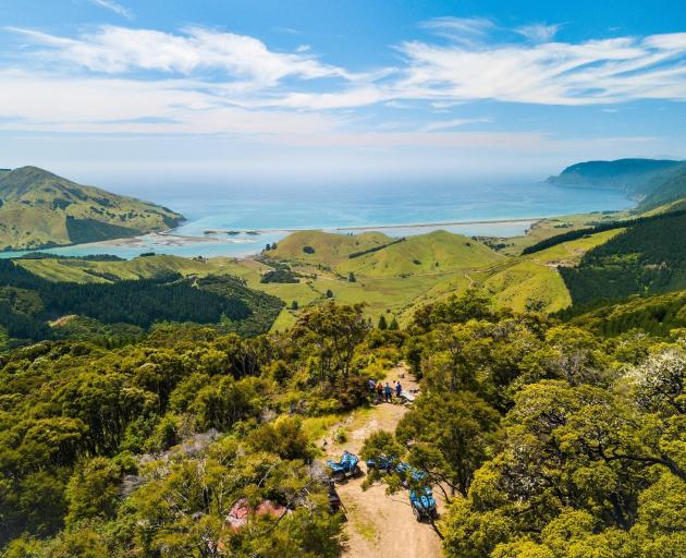 The views are magnificent from Cable Bay Adventure Park. Photo: George Guille