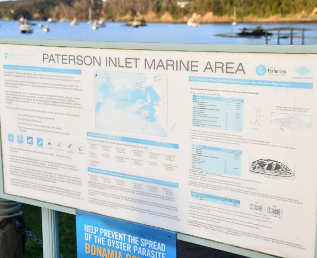 Paterson Inlet marine area.