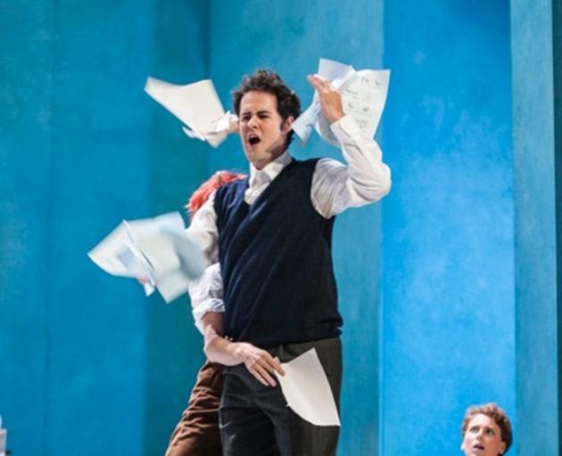 Performing David in Die Meistersinger at the Landestheater Detmold.