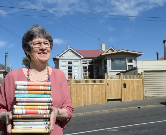 Liz Jack (73), daughter of Dunedin  romance writer Essie Summers, stands outside their former...