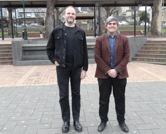 Dunedin City Council community arts adviser Craig Monk (left) and Creative Dunedin Partnership...