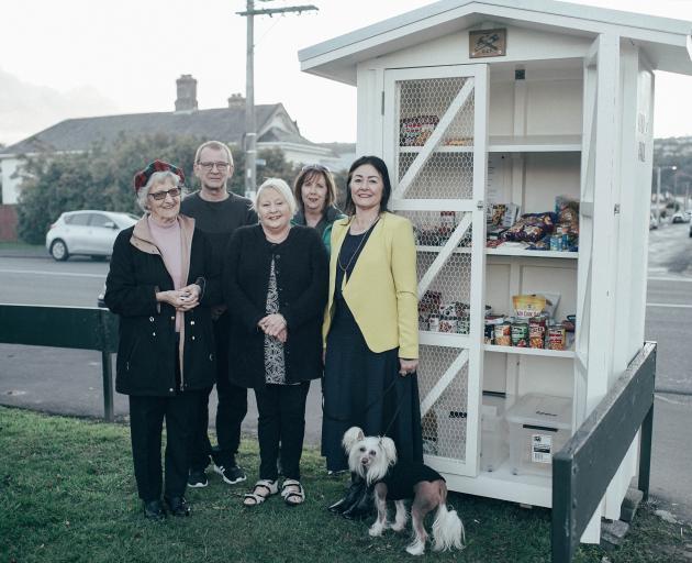 Community pantry team (from left) Natalie Stuart, Paul Ashford, Karen Manning, Sharon Ferguson...