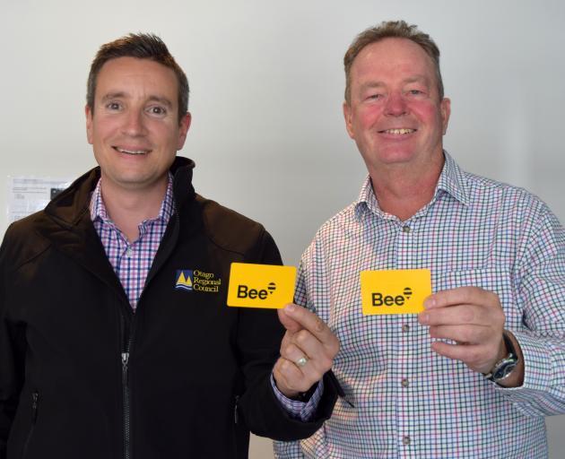 Otago Regional Council public transport team leader Julian Phillips (left) and  Regional...
