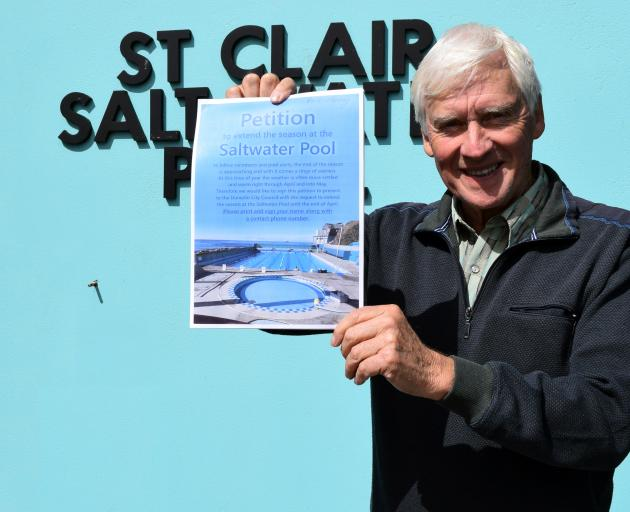 David Murphy has launched a petition in a bid to get the season extended at the St Clair Hot Salt Water Pool. PHOTO: SHAWN MCAVINUE