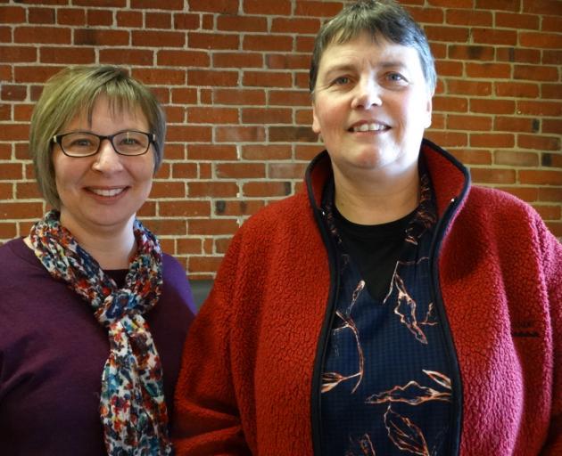Ann Donkin (left) with Anita Gibbs. PHOTO: BRENDA HARWOOD