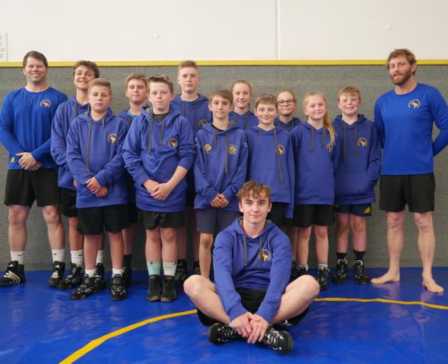 Taieri Taniwhas Amateur Wrestling Club members competing in the national championships in...