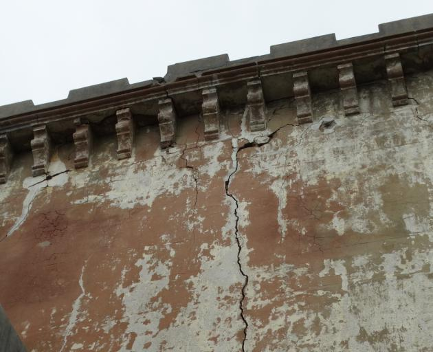 Large cracks can be seen throughout Cargill's Castle, which has been surveyed by building...
