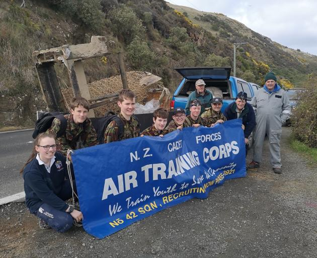 Gathered after cleaning up the area around the historic Harington Point gun emplacements at the...