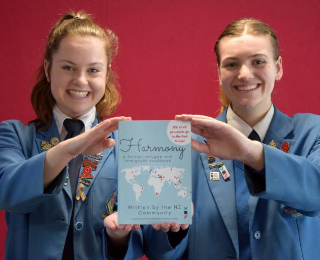Queen's High School pupils Sahara Hurley (left) and Acacia Weekley have compiled Harmony - A...