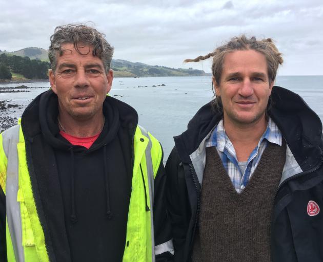 East Otago Taiapure management committee chairman Brendan Flack (left) and Te Runanga o Ngai Tahu...