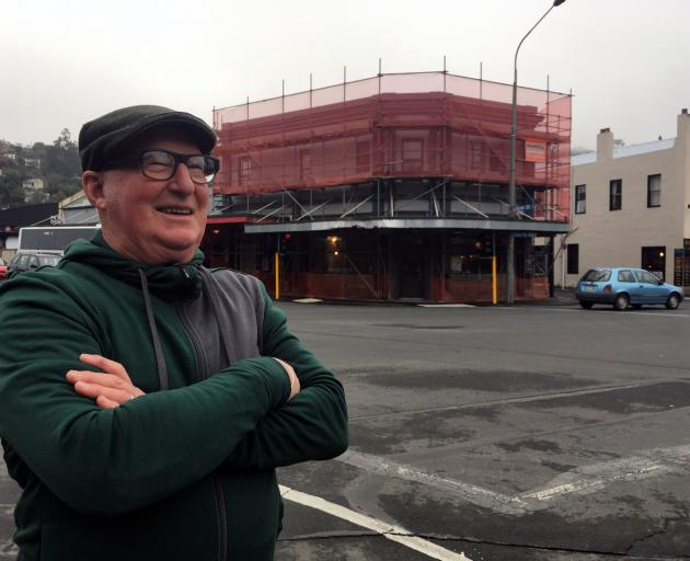 Crusty Corner Cafe owner Rob Barker waits for his Northeast Valley eatery to be renovated. PHOTO:...