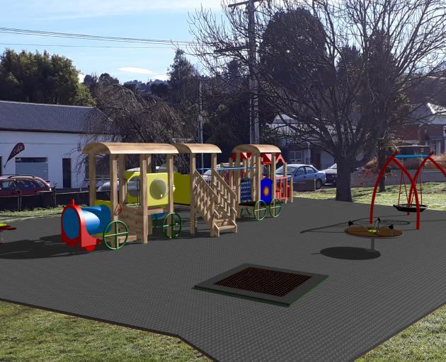 An artist's impression of what the playground area in the Greater Green Island Recreational Area...