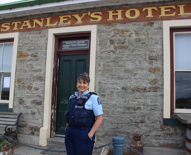 Senior Constable Helen Fincham-Putter is excited to be taking over Stanley's Hotel  at Macraes...