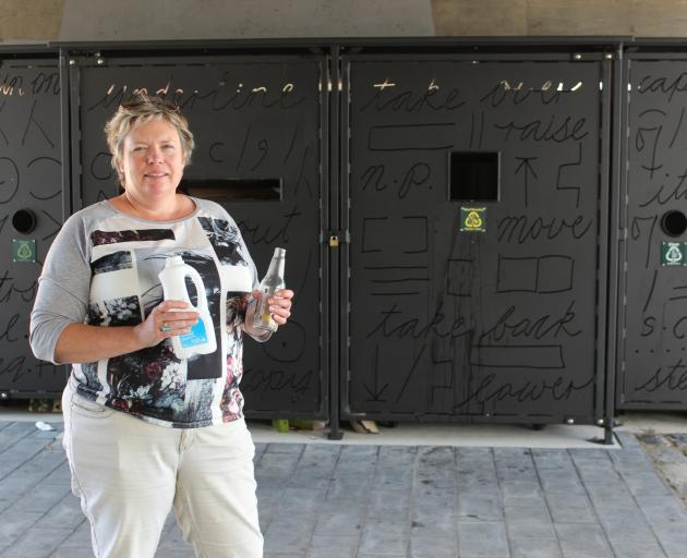 Catherine Gledhill from waste and environmental solutions DCC with the new recycling hub on Vogel St. PICTURE: ELLA STOKES