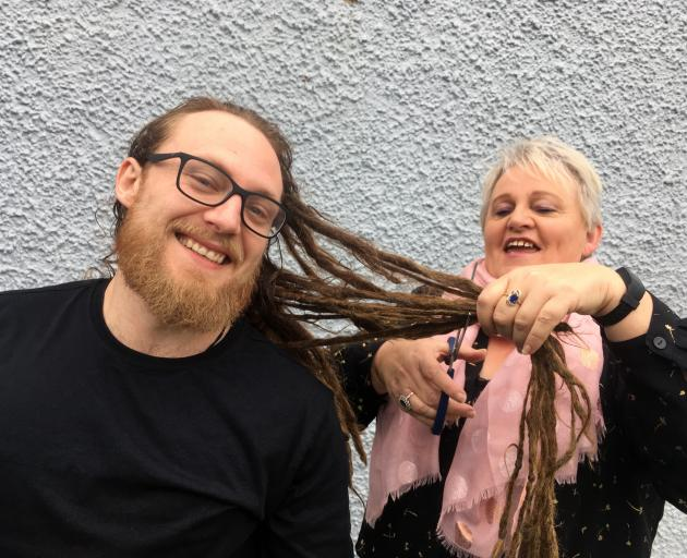 Maggie Garden helped son Chris lose his locks earlier this year. PHOTO: SHAWN MCAVINUE