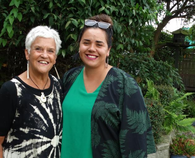 Dunedin Relay for Life 2020 ambassador Natalie Yule Yeoman (left) and 2018 ambassador Ana Mapusua...