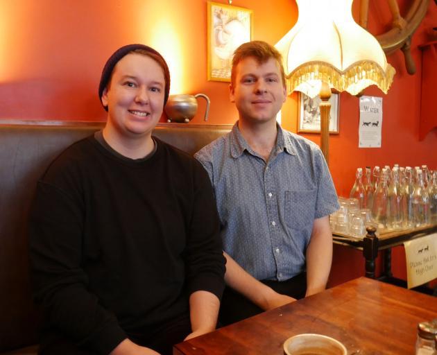 Dunedin Pride trans and gender[diverse group co-ordinator Riley Young (left) and Dunedin Pride co...