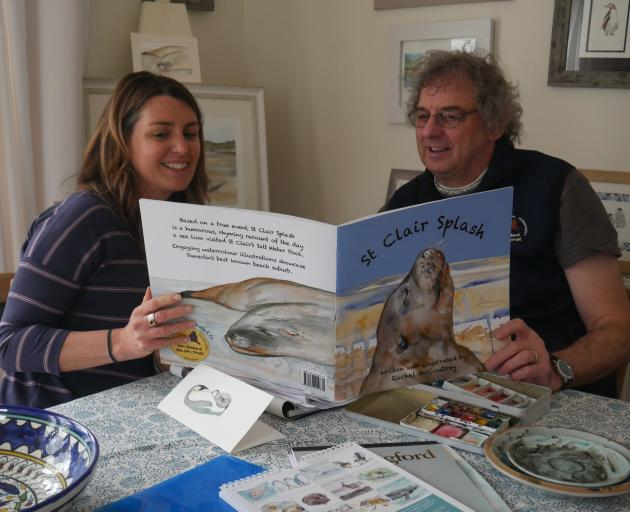 Author and illustrator Rachel McCoubrey and New Zealand Sea Lion Trust chairman Steve Broni  read...