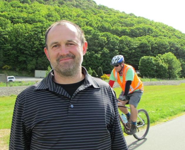 Steve Walker hopes the cycleway-walkway will be completed. Photo: ODT files