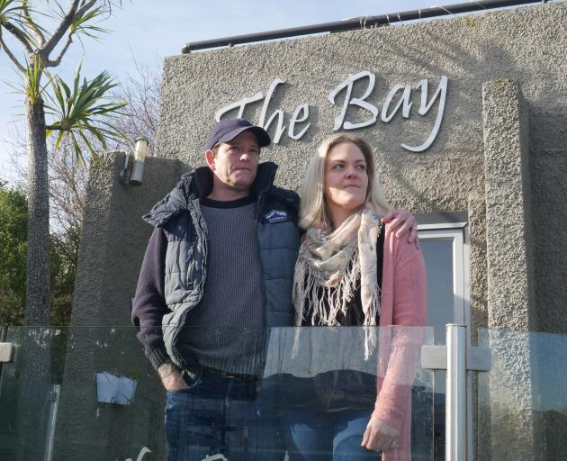 Kevin and Beckie Coe have closed The Bay Cafe in Macandrew Bay. PHOTO: JESSICA WILSON