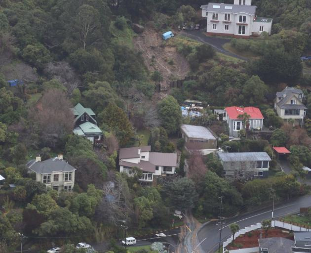 Ravenswood St in St Clair was closed  and 12 houses had been evacuated due to a slip on Saturday....