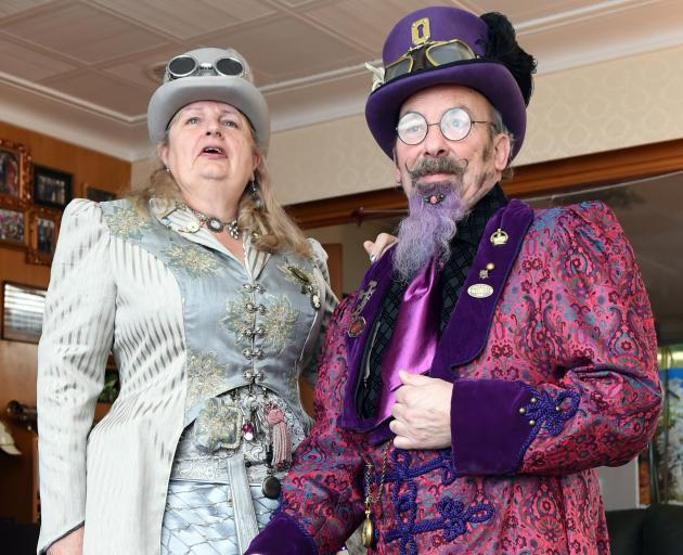 Steampunk enthusiasts James and Helen Bryan. ''I like the aesthetic of the Victorian era,'' Mr...