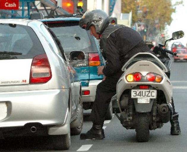 Being a parking officer is not all sweetness and light. Photo ODT files.